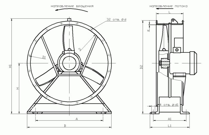 схема вентилятора для погреба