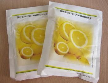 Лимонная кислота и сок цитрусовых